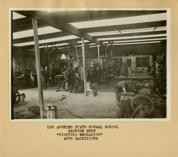 View of machine shop and auto mechanics