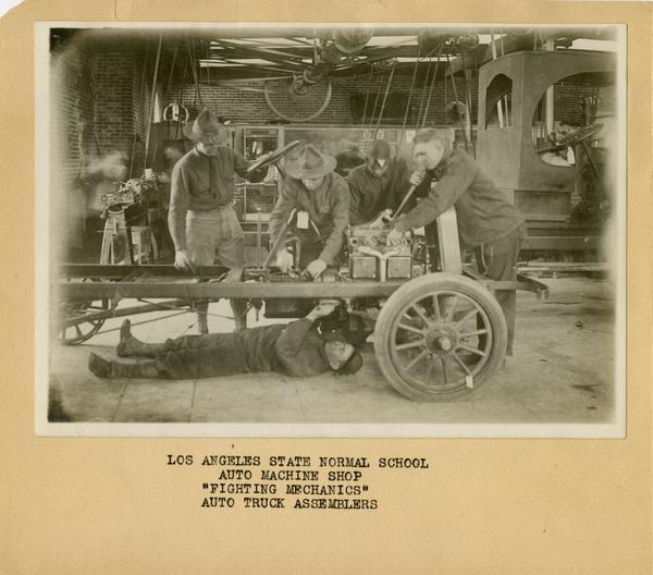 Auto truck assemblers in Auto Machine Shop