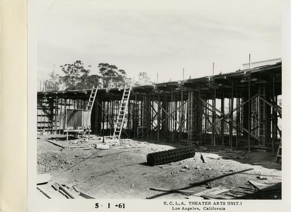 View of MacGowan Hall under construction, May 1, 1961