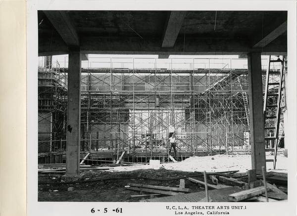View of MacGowan Hall under construction, June 5, 1961