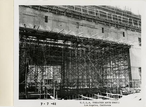 View of MacGowan Hall under construction, July 7, 1961