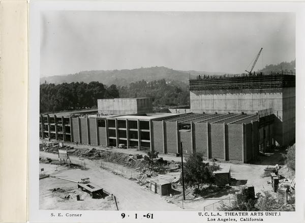 View of southeast corner of MacGowan Hall, September 1, 1961