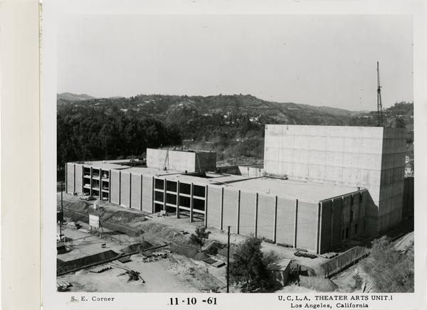 View of southeast corner of MacGowan Hall under construction, November 10, 1961