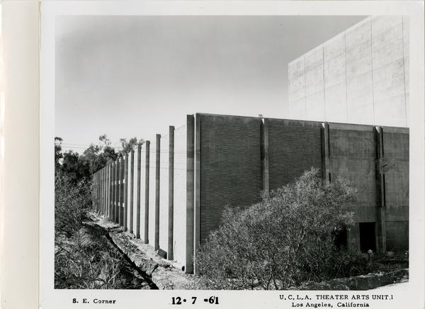 View of southeast corner of MacGowan Hall under construction, December 7, 1961