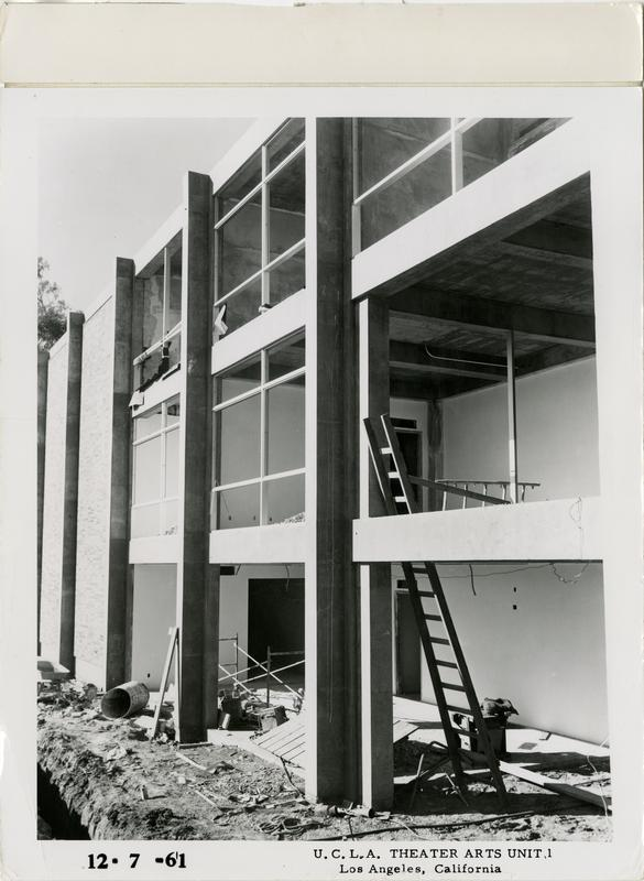 View of MacGowan Hall under construction, December 7, 1961