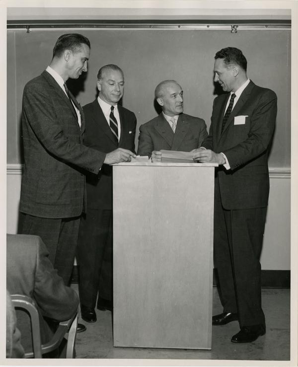 Photo of Executive Program faculty, February 1957