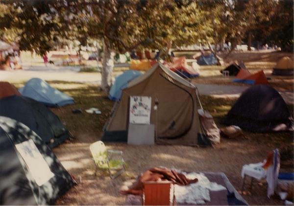 Camping in protest of Apartheid