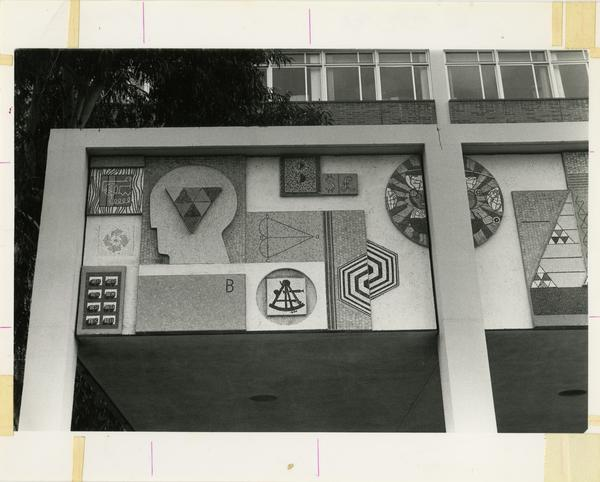 View of Mathematical Sciences Building mural