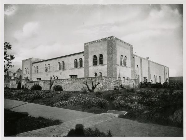Exterior view of Mechanical Arts Building, ca. early 1930s