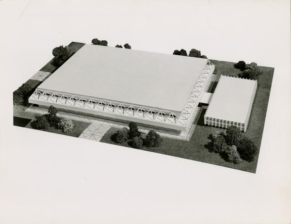 Architectural rendering of Pauley Pavilion, 1962