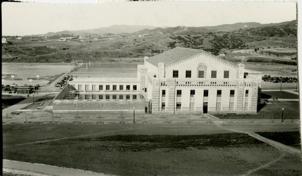 Exterior view of Men's Gymnasium, ca. 1932