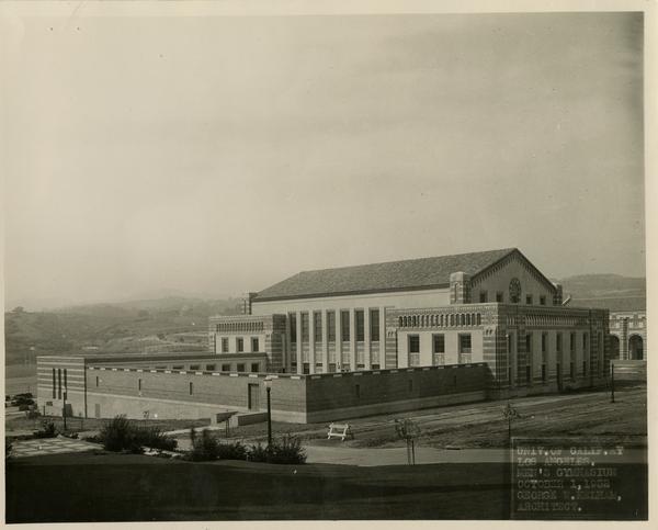Exterior view of Men's Gymnasium, October 1, 1932