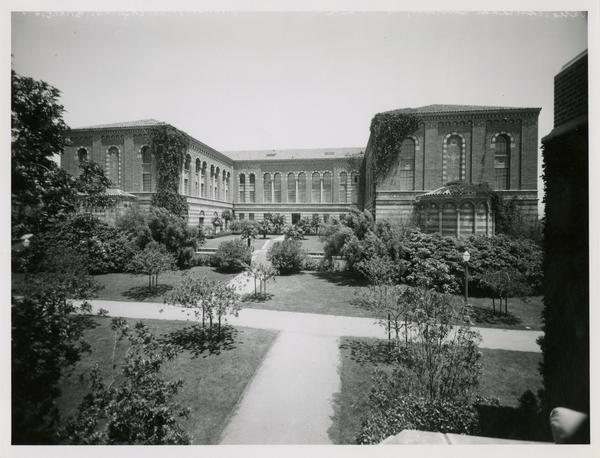 Exterior view of Moore Hall from west, ca. 1930s