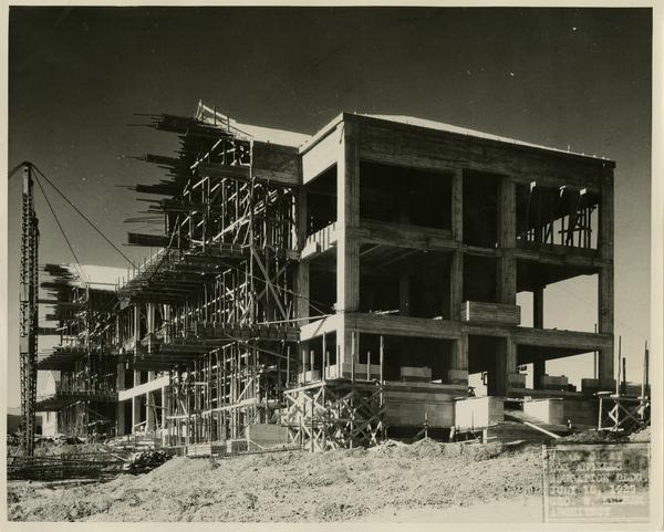 Moore Hall under construction, July 15, 1929