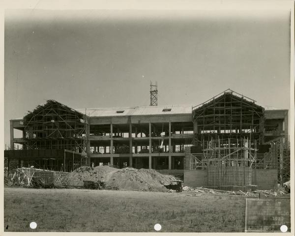 Moore Hall under construction, August 1, 1929