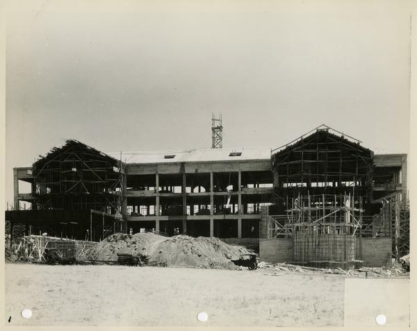 Moore Hall under construction, ca. 1929