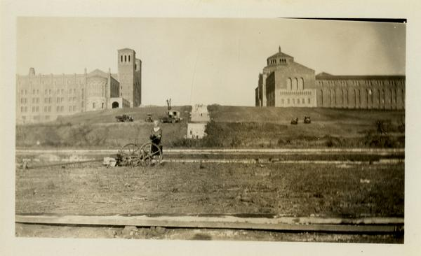 Janss Steps with Royce Hall and Library in background, August 21, 1929