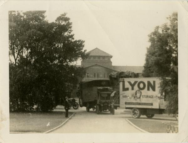 Moving day from Vermont campus to Westwood, ca. 1929