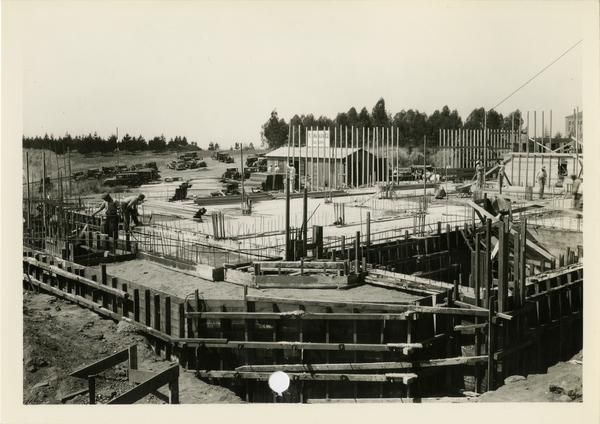 Murphy Hall under construction, July 1936