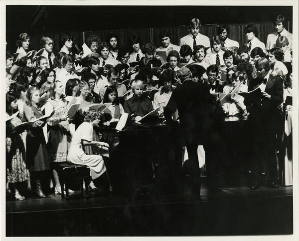 Musical performance on stage
