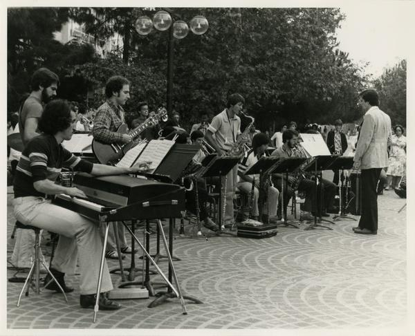 Musical performance outdoors