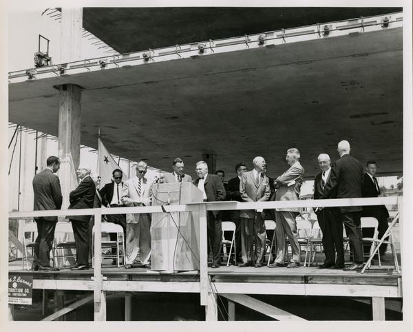 Nuclear medicine and radiation biology laboratory cornerstone ceremony, May 21, 1960