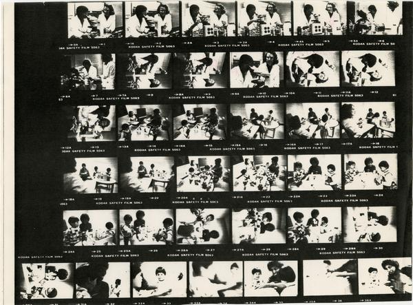 Contact sheet of images from School of Nursing, 1982