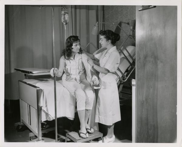 Nurse providing care to patient