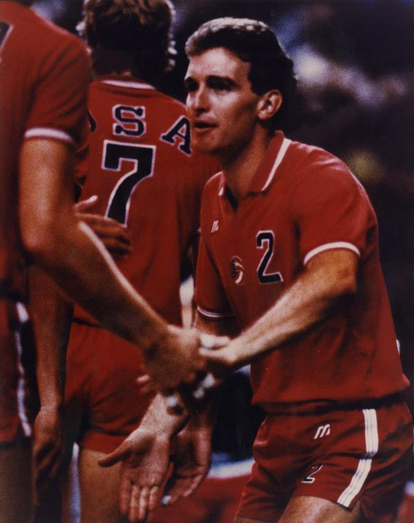 UCLA Volleyball Olympic Gold Medal Winner Dave Saunders During 1984 competition