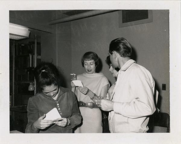 Oral History Program staff members: Adelaide Tusler, Cheryl Wolf and Don Schippers