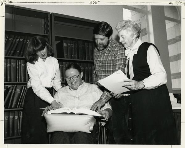 Photo of Oral History Program staff: Connie Bullock, Bernard Salm, Virginia (Patty) Carew