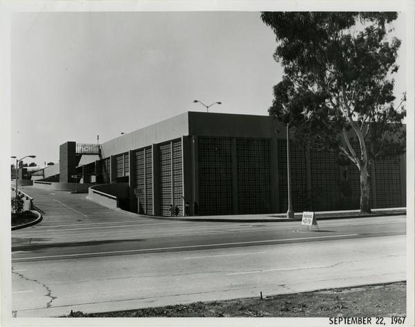 View of UCLA parking structure, September 22, 1967