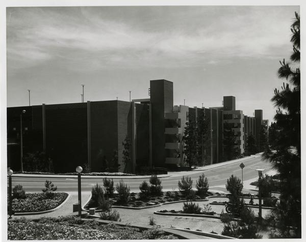 View of Parking Structure E, June 12, 1972