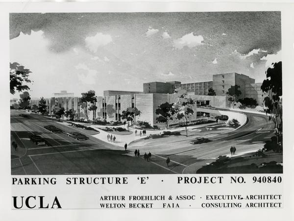 Rendering of Parking Structure E