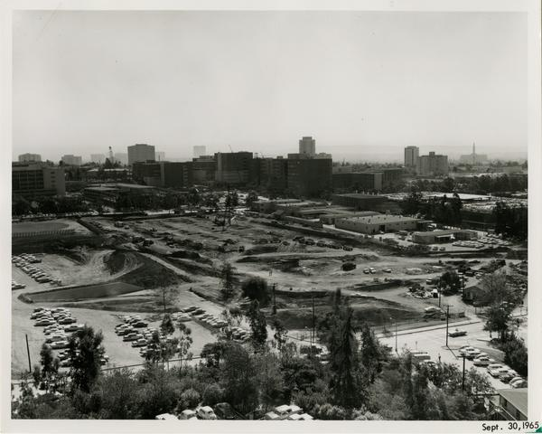 Site of Parking Structure H, September 30, 1965