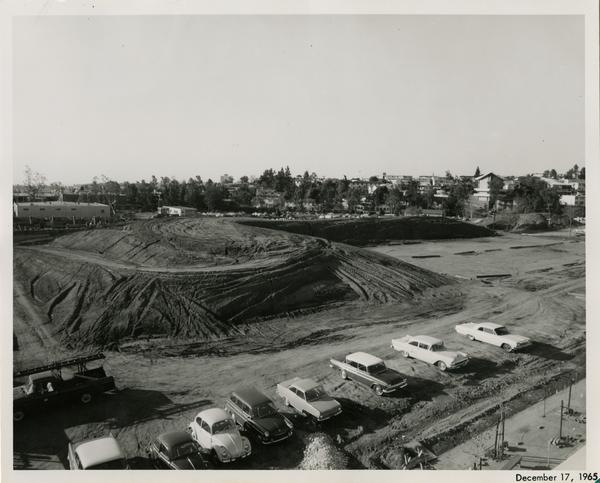 Site of Parking Structure H, December 17, 1965