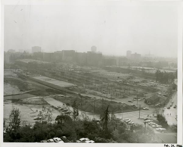 Site of Parking Structure H, February 24, 1966