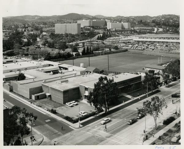 Site of Parking Structure H, July 1965