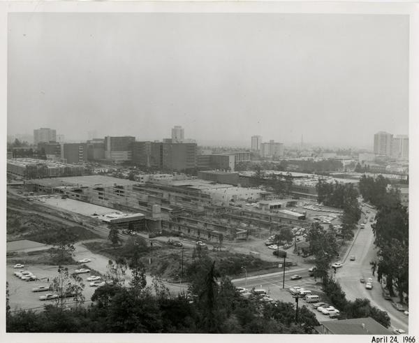 Site of Parking Structure H, April 24, 1966