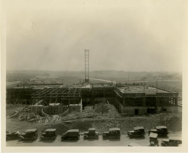 Construction of Kinsey Hall, ca. 1928