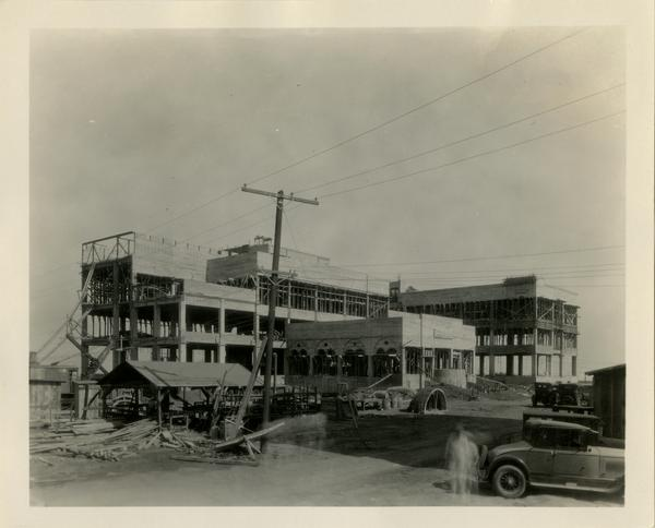 Construction of Kinsey Hall, ca. 1929