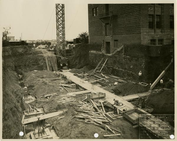 Construction of Kinsey Hall, March 28, 1932