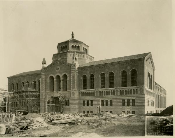 Powell Library during construction, October 1, 1928