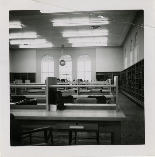 Reading room of Powell Library east wing