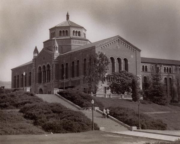 Janss steps leading up to Powell Library, ca. 1942
