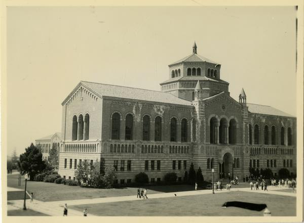 Exterior view of Powell Library, ca. 1937