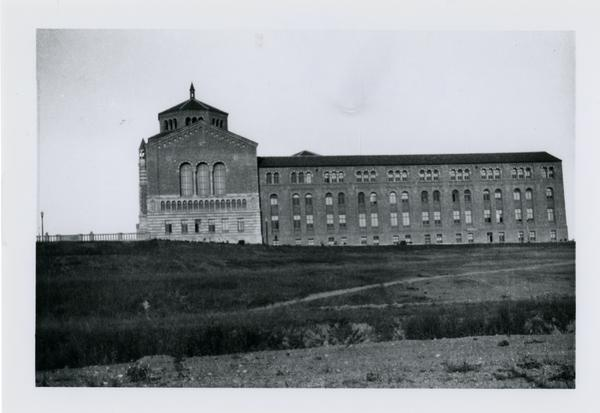 Exterior view of Powell Library, ca. 1930