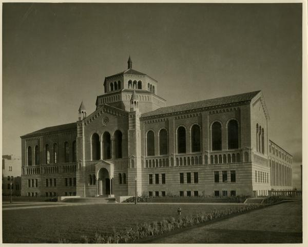 Exterior view of Powell Library, ca. 1929