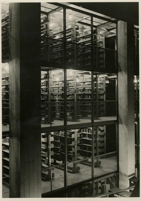 Powell Library stacks, ca. 1936