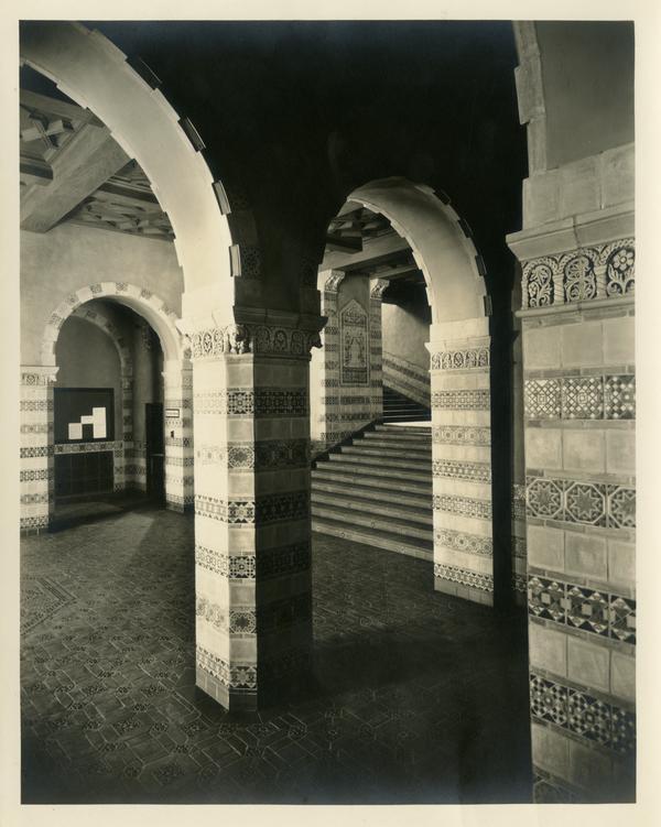 Powell Library main entrance foyer, ca. 1929